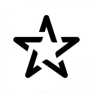 星の白黒シルエットイラスト06
