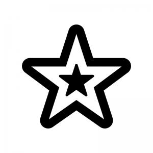 星の白黒シルエットイラスト07