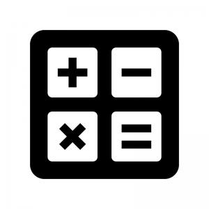 計算の白黒シルエットイラスト02