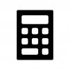 計算機・電卓の白黒シルエットイラスト02