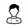 看護師(男性)の白黒シルエットイラスト02