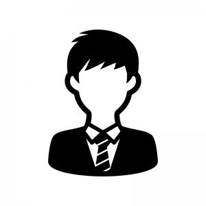 学生の白黒シルエットイラスト03