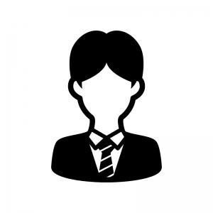 学生の白黒シルエットイラスト04