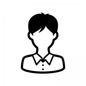 学生の白黒シルエットイラスト06