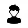 漫画家の白黒シルエットイラスト02