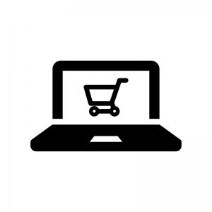 ネットショッピングの白黒シルエットイラスト02