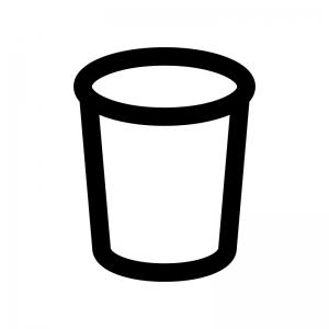 紙コップの白黒シルエットイラスト
