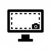 クリーンショット(PC画面)の白黒シルエットイラスト02