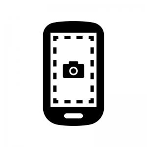 スクリーンショットスマホ画面のシルエット 無料のaipng白黒