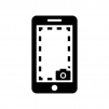 スクリーンショット(スマホ画面)の白黒シルエットイラスト02