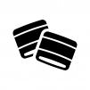 リストバンドの白黒シルエットイラスト02