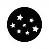 星空の白黒シルエットイラスト