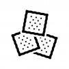 クラッカー(お菓子)の白黒シルエットイラスト02