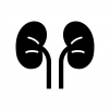 腎臓の白黒シルエットイラスト02