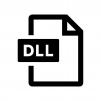 DLLファイルの白黒シルエットイラスト