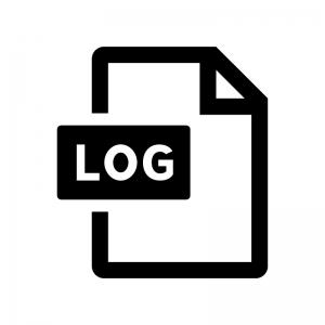 LOGファイルの白黒シルエットイラスト