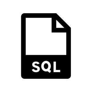 SQLファイルの白黒シルエットイラスト02