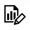 グラフレポートの白黒シルエットイラスト05
