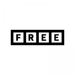 FREE・無料の白黒シルエットイラスト03