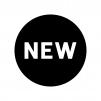 NEWの白黒シルエットイラスト