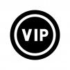 VIPの白黒シルエットイラスト02