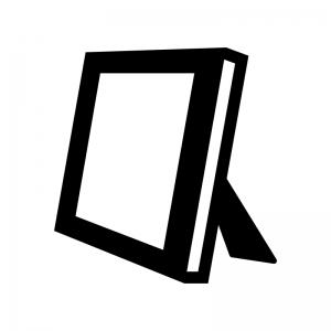 写真立ての白黒シルエットイラスト