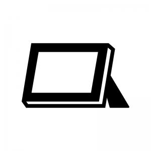 写真立ての白黒シルエットイラスト02
