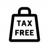 TAX FREEの白黒シルエットイラスト02