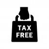 TAX FREEの白黒シルエットイラスト05