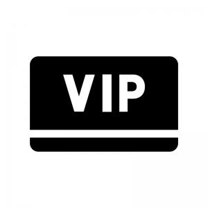 VIPカードの白黒シルエットイラスト