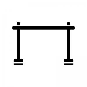 物干し竿の白黒シルエットイラスト02