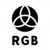 RGBの白黒シルエットイラスト