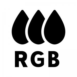 RGBの白黒シルエットイラスト03