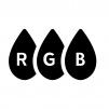 RGBの白黒シルエットイラスト04