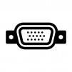 VGA端子(アナログRGB端子)のシルエットイラスト