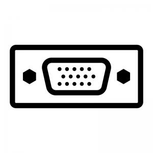 VGA端子(アナログRGB端子)のシルエットイラスト02