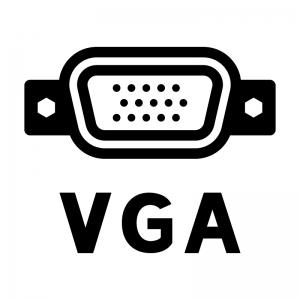 VGA端子(アナログRGB端子)のシルエットイラスト03