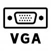 VGA端子(アナログRGB端子)のシルエットイラスト04