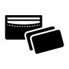 カードケースの白黒シルエットイラスト02