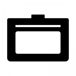 カードケース・定期入れの白黒シルエットイラスト