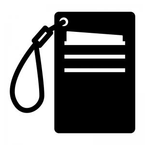 カードケース・定期入れの白黒シルエットイラスト02