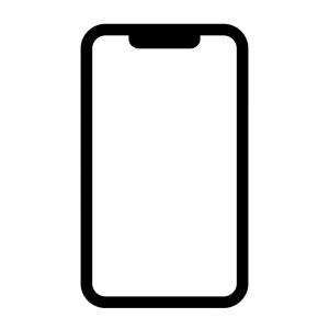 スマートフォンの白黒シルエットイラスト03