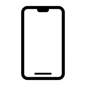 スマートフォンの白黒シルエットイラスト04