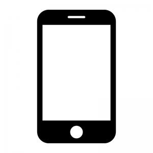 スマートフォンの白黒シルエットイラスト05