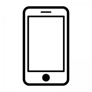 スマートフォンの白黒シルエットイラスト07