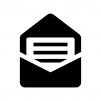 開封メールの白黒シルエットイラスト03