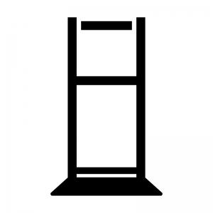 サインボードの白黒シルエットイラスト02