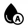 A型の血液型の白黒シルエットイラスト02