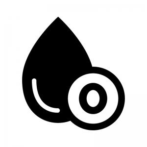 O型の血液型の白黒シルエットイラスト02
