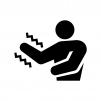 手や腕の痺れ(しびれ)の白黒シルエットイラスト02